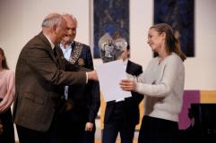 President Gunther Motzke gratulerer